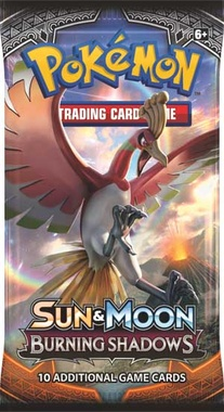 POKEMON BOOSTER X 10 - SUN & MOON - BURNING SHADOWS
