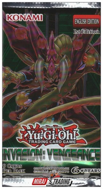 YUGIOH BOOSTER X 9 CARTAS - INVASION: VENGEANCE