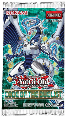 YUGIOH BOOSTER X 9 CARTAS - CODE OF THE DUELIST