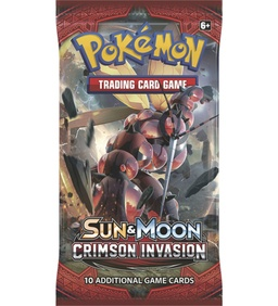 POKEMON BOOSTER X 10 CARTAS - SUN & MOON CRIMSON INVASION