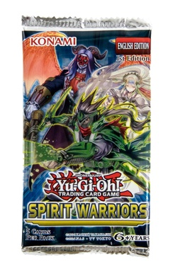 YUGIOH BOOSTER X 5 CARTAS - SPIRIT WARRIORS