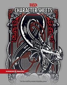 D&D 5TH CHARACTER SHEETS 2017 x 24