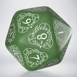 D20 LEVEL COUNTER Q - WORKSHOP GREEN