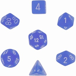 SET 7 DADOS CHESSEX FROSTED BLUE / WHITE