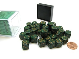 BLOQUE 36 DADOS D6 CHESSEX SPECKLED GOLDEN RECON