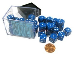 BLOQUE 36 DADOS D6 CHESSEX SPECKLED WATER
