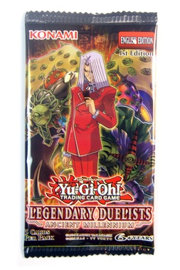 YUGIOH BOOSTER X 5 CARTAS - LEGENDARY DUELISTS: ANCIENT MILLENNIUM