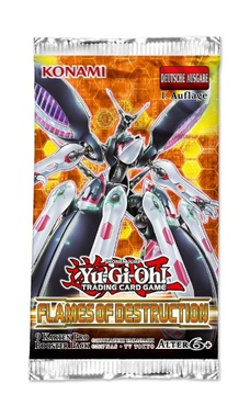 YUGIOH BOOSTER X 9 CARTAS - FLAMES OF DESTRUCTION