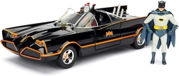 BATIMOVIL CLASICO 1966 CON BATMAN ESCALA 1:24 (98259)