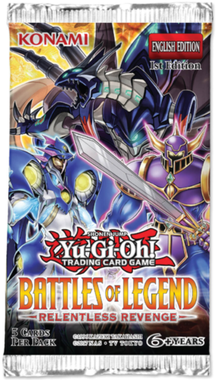 YUGIOH BOOSTER X 5 CARTAS -  BATTLES OF LEGEND RELENTLESS REVENGE