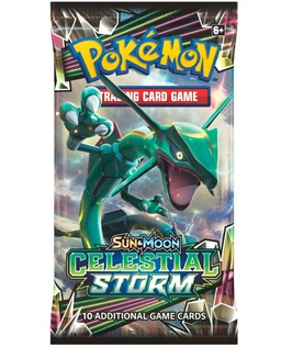 POKEMON BOOSTER X 10 CARTAS - SUN & MOON: CELESTIAL STORM