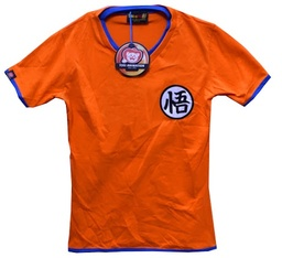 REMERA DRAGON BALL - NARANJA CON CUELLO AZUL