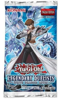 YUGIOH BOOSTER X 5 CARTAS - LEGENDARY DUELISTS WHITE DRAGON ABYSS