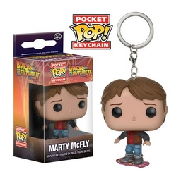 FUNKO POP! KEYCHAIN BACK TO THE FUTURE MARTY ON HOVERBOARD